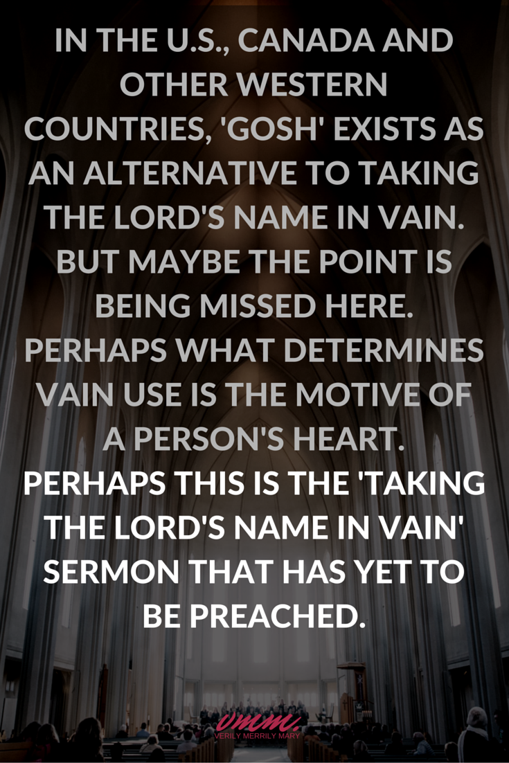 Taking the Lord's name in vain