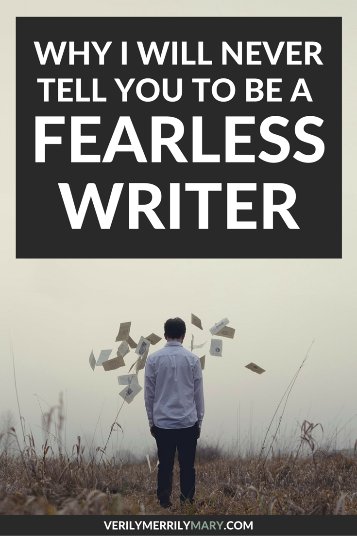There are many calls to remove fear from your writing process. But that is just not possible. Click through for encouragement and a more realistic look at how us writers can deal with fear when we write.