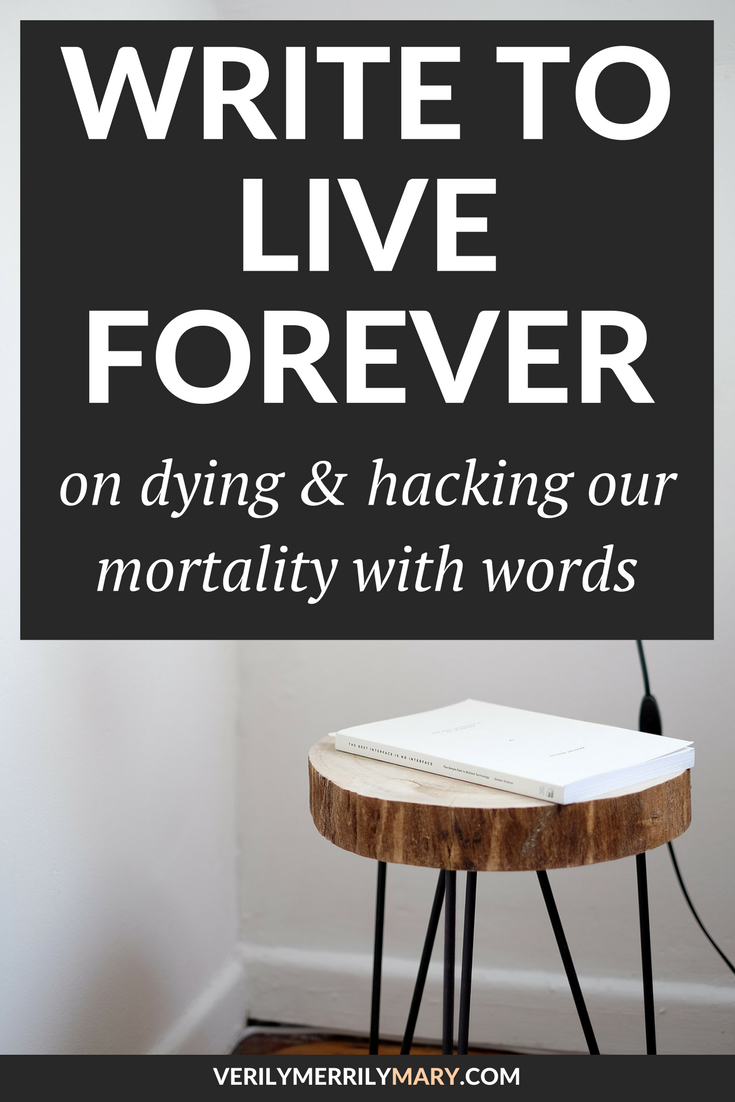 As writers, we put our heart into our craft. Do we know that we can make our heart beat forever? Do we know that we can writer to live forever? Click through for this insightful read on how our writing makes extends our lifespans.